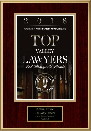 North Valley Magazine - 2018 Top Valley Lawyer Award