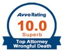 Avvo 10 rating wrongful death