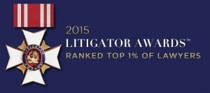 2015 Litigator Award Badge