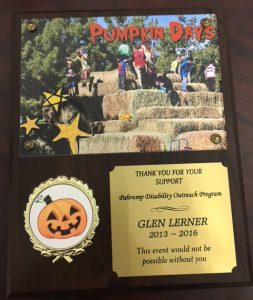Thank You from PDOP for Pumpkin Days