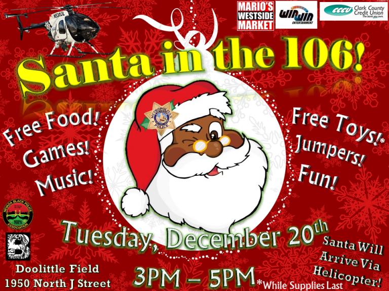 2016 Santa in the 106!