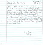 Student Thank you For Miller Elementary School #3