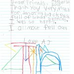 Student Thank you For Miller Elementary School #12