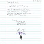 Student Thank you For Miller Elementary School #13