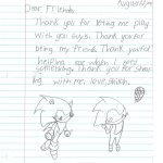 Student Thank you For Miller Elementary School #15