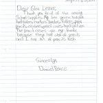 Student Thank you For Miller Elementary School #50