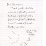 Student Thank you For Miller Elementary School #51