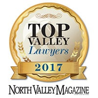 Top Valley Lawyer 2018 - North Valley Magazine