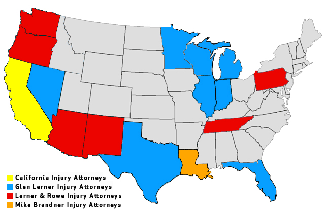 Glen Lerner Injury Attorney Locations