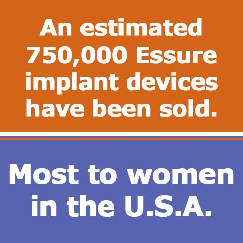 Sales Totals for Essure Implants