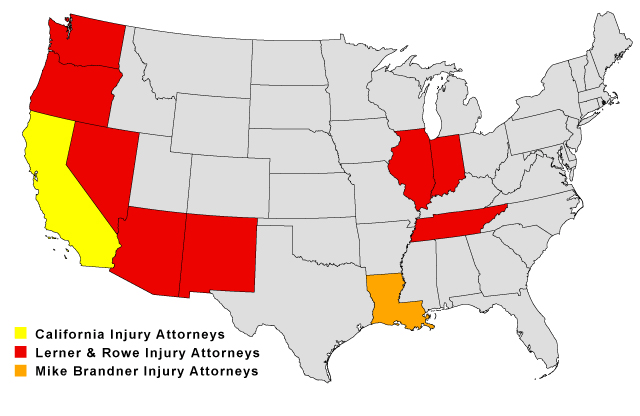 Lerner and Rowe Attorney's Map