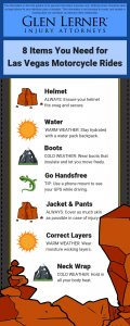 inforgraphic on motorcycle gear for las vegas rides